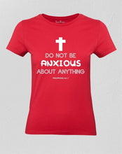 Christian Women T shirt ANXIOUS God Ladies tee
