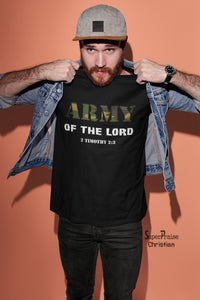 Army of the Lord God's Soldier Christian T shirt - Super Praise Christian