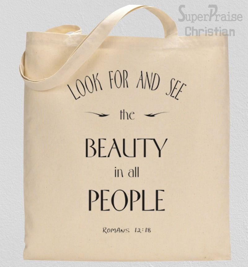 Beauty Quotes Tote Bag