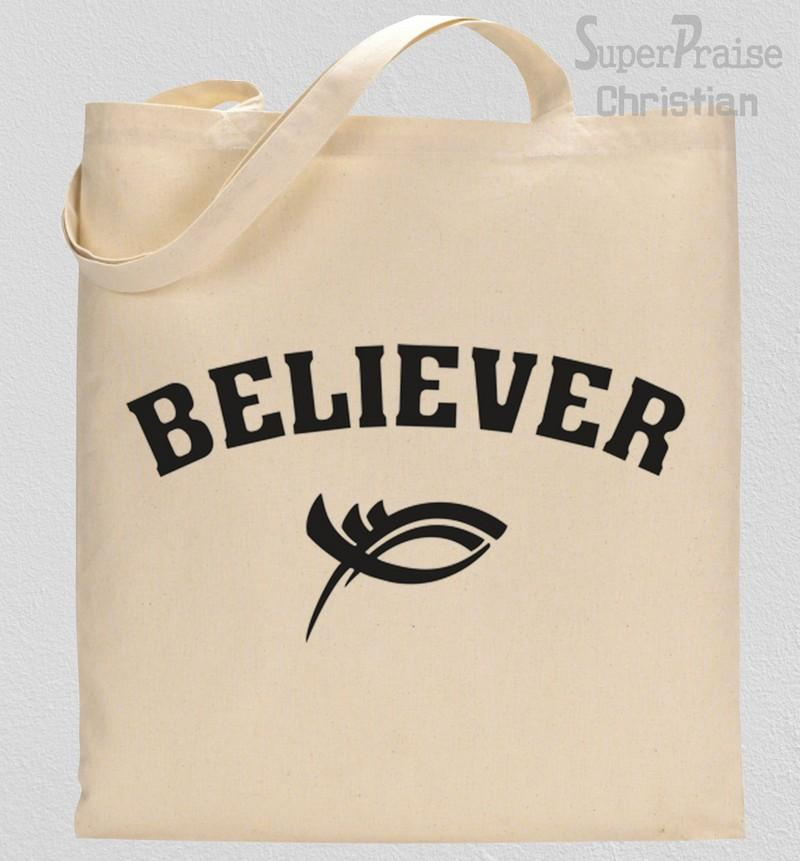 Believer Sign Tote Bag