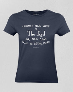 Commit Your Work to the Lord Christian Women T shirt