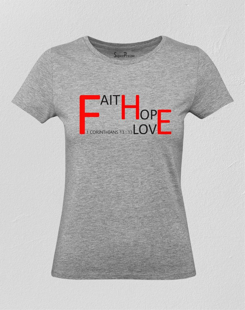 Corinthians 13:13 Christian Women T Shirt
