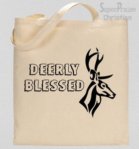 Deerly Blessed Tote Bag