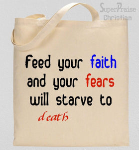 Feed Your faith Tote Bag