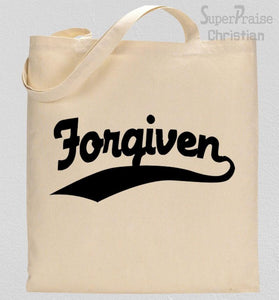 Forgiven Sign Tote Bag