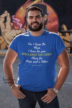 Men Christian Bible Church T Shirt For I Know - Super Praise Christian