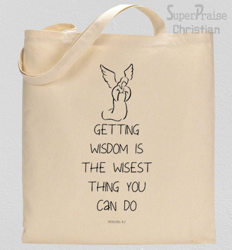 Getting Wisdom Tote Bag