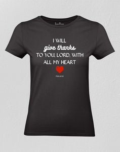 Give Thanks To The Lord Christian Women T shirt