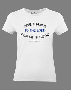 Christian Women T Shirt Thanks To Lord Jesus