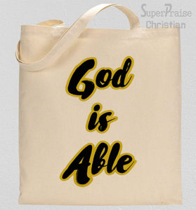 God Is Able Tote Bag