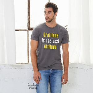 Gratitude and Attitude Christian T Shirt - Super Praise Christian