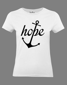 Hope Anchor Women T Shirt