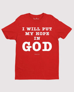 Hope in God Psalm 42:11 Bible Verse Christian T Shirt