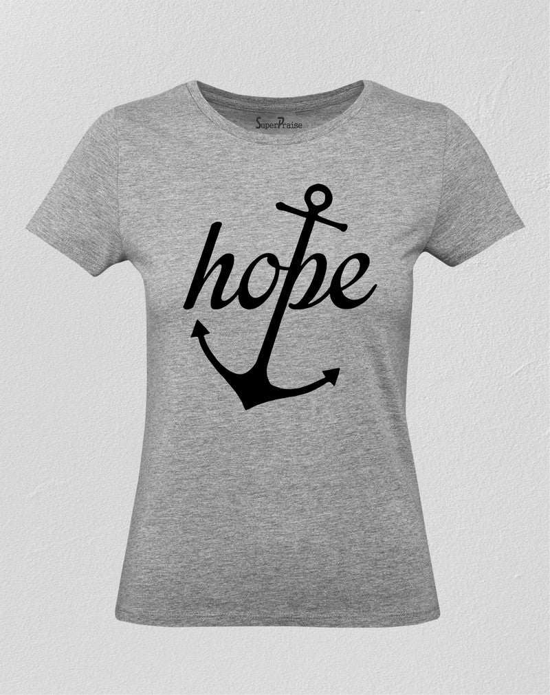 Christian Women T Shirt Hope Life Anchor