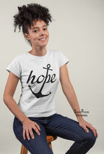 Christian Women T Shirt Hope Life Anchor Ladies tee