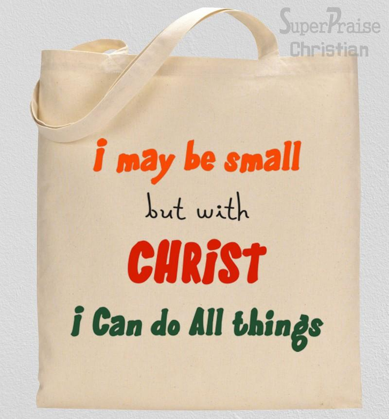 I can do all things through christ Verse tote bag