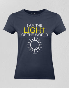 Christian Women T shirt I Am The Light Of the World
