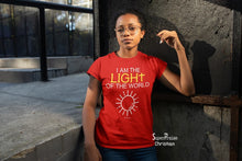 Christian Women T shirt I Am The Light Of the World ladies tee