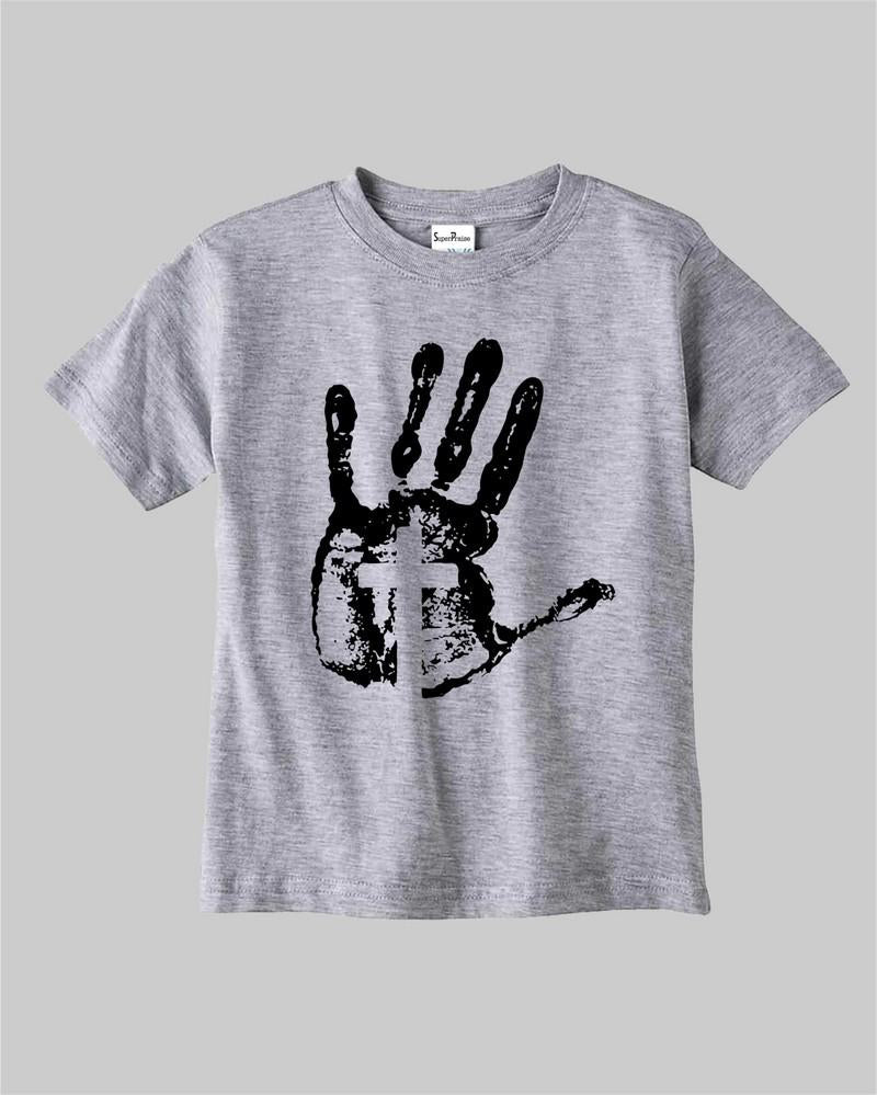 Jesus Cross On Hand Kids T Shirt
