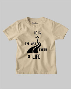Jesus is the way the truth and the life Kids T Shirt