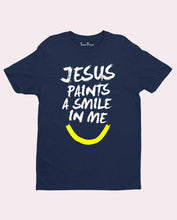 Jesus Smiling Painting T Shirt