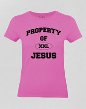 Jesus tee shirts Christian Women Property of Jesus TShirt