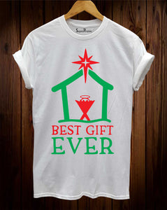 Christmas T Shirt Best Gift Ever Adult Ladies and Kids Tee tshirt