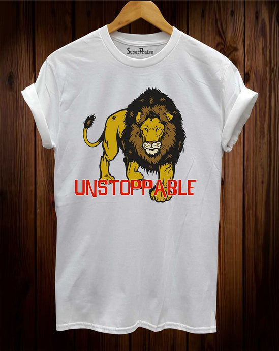 Unstoppable Tiger Sign Christian T Shirt