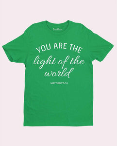 Light of the World Scripture Bible Verse Christian T Shirt