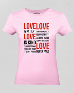 Christian T Shirt Love Is Patient