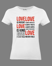 Christian Women T Shirt Love Is Patient