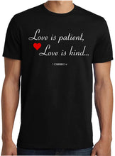 Men Christian T Shirt Love Is Patient Slogan