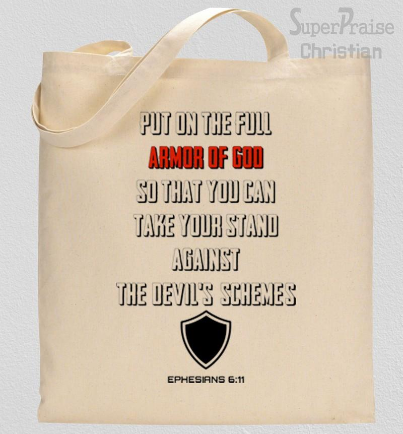 Put On The Full Armor Of God Tote Bag