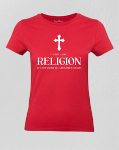 Christian Women T shirt Religion Worship Praise Spirituality Faith