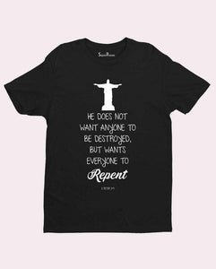 Christian Religious T Shirt Repent Salvation Jesus
