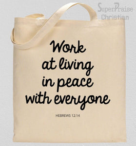 Scriptures On Peace Tote Bag
