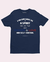Power Love Self Control Bible Verse Christian T Shirt
