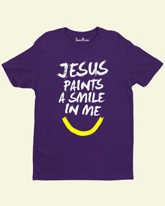 Jesus Paints A Smile in me Christian T Shirt