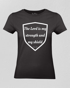 Christian Women T shirt Strength and Shield