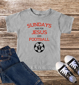 Sundays Are For Jesus And Football Kids T Shirt