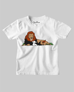 The Lion And The Lamb Kids T Shirt