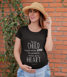The Prayer Answered Pregnancy T Shirt