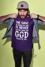 Giant Is Never Bigger Christian T Shirt - Super Praise Christian