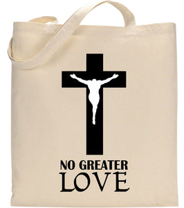 No Greater Love Jesus Christ Christian Tote Bag Gift