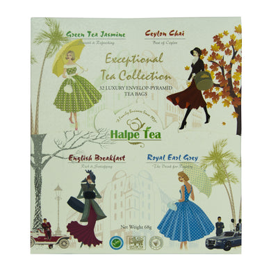 Halpé Exceptional Tea Collection. 4 in 1 Gift Pack