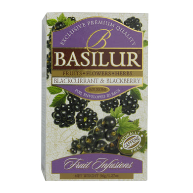 Basilur Blackcurrant and Blackberry Tea bags, Ceylon Tea Store, Ceylon Tea