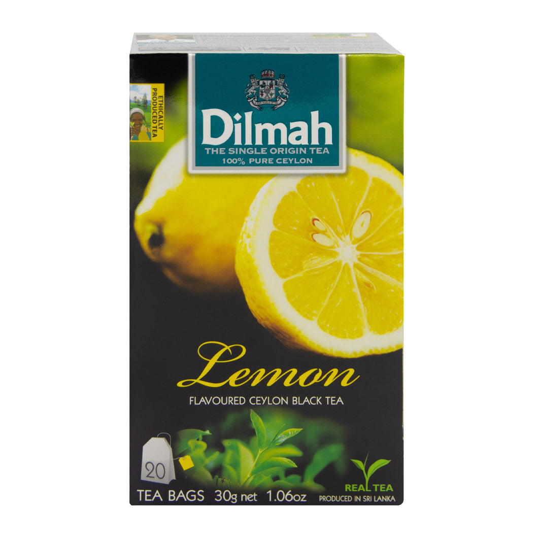 Dilmah Lemon Flavoured Ceylon Black Tea | Ceylon Tea Store