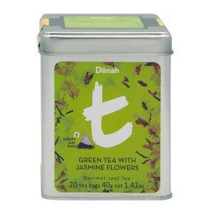 Dilmah t-series Green Tea with Jasmine Flowers Leaf Tea Bags | Ceylon Tea Store