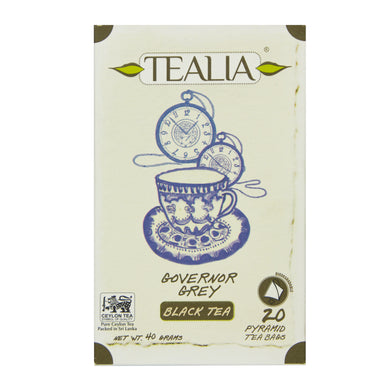 Tealia Governor Grey 20 Pyramid Tea Bags