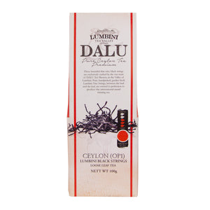Lumbini Dalu Black Strings 100g | Ceylon Tea Store